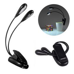 Flexible Dual Arm 8 LED Clip Desk Light Book Reading Laptop Stand Lamp 1