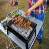 Outdooors BBQ Portable Charcoal Grill Household Folding Rack Grill 2