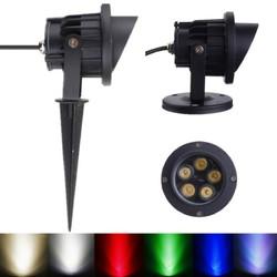 10W LED Flood Spotlight With Rod & Cap For Garden Yard IP65 AC 85-265V 1