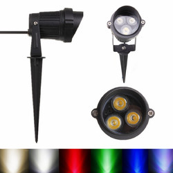 6W LED Flood Spot Lightt With Rod & Cap For Garden Yard IP65 DC 12-24V 1