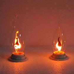 Pull Tail E14 3W Edison Bulb Candle Flame Bubble Yellow Light 220V 1