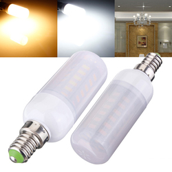 E14 5W 48 SMD 5730 AC 220V LED Corn Light Bulbs With Frosted Cover 1
