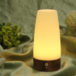 Wireless Motion Sensor Cylinder LED Night Light Battery Powered Lamp 1