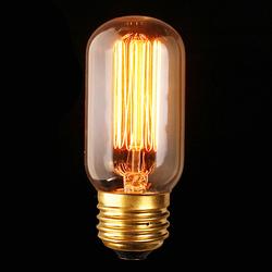 E27 40W Vintage Antique Edison Incandescent Bulb Clear Glass 110V 1
