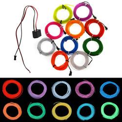 3M Flexible Neon EL Wire 10 colors 12V Light Dance Party Decor Light 1