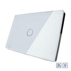 Livolo White Crystal Glass Dimmer&Remote Switch VL-C301DR-81 1