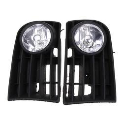 12V Fog Light Lamp Bulb Grille Grill Set For VW GOLF Rabbit 03-09 1