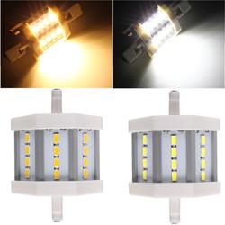 Dimmable R7S 5W 78mm 12 LEDs AC 220V White/Warm White LED Light Bulb 1