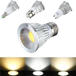 E27/GU10/E14/B22 6W COB LED Dimmable Down Light Bulbs Spot Lightt AC 85V-265V 1