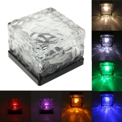 Solar Power Colorful LED Floating Light Waterproof Pond Pool Outdoor Path Brick Floor Lamp 1
