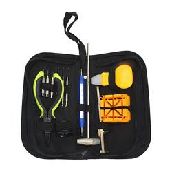13 PCS Watch Repair Tool Kit Watch Case Opener Hammer Pliers Link Remover 1