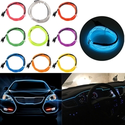 1M USB Flexible EL Wire Neon LED Strip Light Glow Rope Tube Party Decoration with Inverter 5V 1