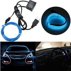 4M Single Color 5V USB Flexible Neon EL Wire Light Dance Party Decor Light 1