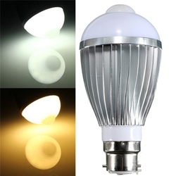 B22 9W 18 SMD 5730 Infrared Sensor Body Induction lamps Warm White/White 85-265V 1