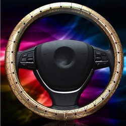 Universal 38cm Car Leather Car Steel Ring Wheel Cover All Seasons 1
