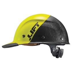 Lift Safety DAX Carbon Fiber Cap Brim 50-50 Yellow/Black 1
