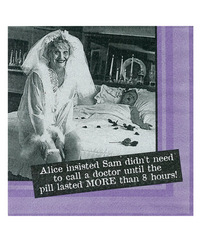 Sexy Soft Bodies Alice Insisted Sam Sam Didn't Need to Call a Doctor....Napkins - Set of 20 1