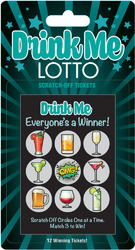 Drink Me Lotto 12 Winning Tickets! 1