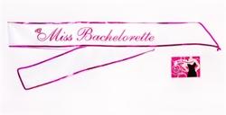 Miss Bachelorette Sash - White 1