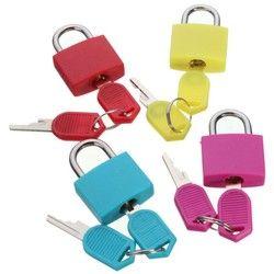 Travel Mini Brass Padlock with 2 keys Set Luggage Suitcase Bag Safe Secure Lock 1
