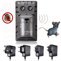 Electronic Ultrasonic Pest Rat Mouse Insect Rodent Control Repeller Anti Mole Killer Trap Bug Chaser 1