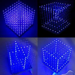 Geekcreit?® 8x8x8 LED Cube 3D Light Square Blue LED Flash Electronic DIY Kit 1
