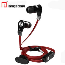 Langdom JM02 Super Bass Sound 3.5mm In-ear Earphone With Mic Remote Control for Android IOS Phones 1