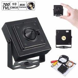 "Mini Pinhole HD 700TVL 1/3"" 3.7mm Wide Angle Board Lens CCTV Security PAL Camera 1"