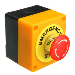 Push Button Switch 1 NO 1 NC 10A 660V Emergency Stop Waterproof 1