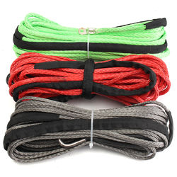 Car Road Vehicle Synthetic Winch Line Cable Rope 5500+ LBs + Sheath For ATV UTV 1