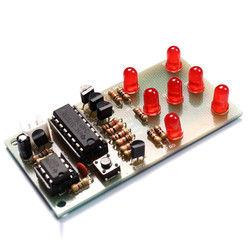 Electronic Dice DIY Kit 5mm Red LED Interesting Parts NE555 CD4017 Electronic Production Suite 1