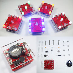 3Pcs Geekcreit?® DIY Shaking Red LED Dice Kit With Small Vibration Motor 1