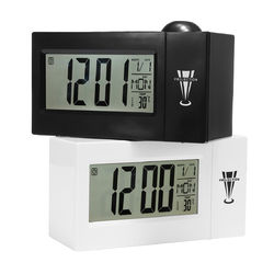 Snooze Alarm Clock Backlight Wall Projector Projection Clocks With Thermometer 12/24 Hour Calendar 1