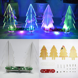 Geekcreit?® DIY Full Color Changing LED Acrylic 3D Christmas Tree Electronic Learning Kit 1