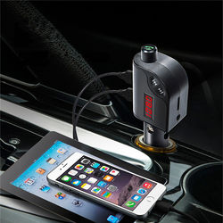 S6 Car Charger FM AUX TF Card Noise Cancelling Hands Free Call MP3 Player bluetooth Transmitter 1