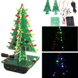 3Pcs Geekcreit?® Christmas Tree LED Flash Kit Three Color Version 3D DIY Electronic Learning Kit 1