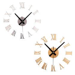 DIY Large Wall Clock Mirror Surface Sticker Modern Style Home Decoration Design 1