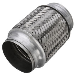Exhaust Flex Pipe Tube Stainless Steel Double Braid 3 Inch X 6 Inch w/ Ends Flexi 1