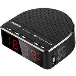 LEADSTAR MX-17 Portable Wireless bluetooth Speaker LED Alarm Clock TF Card FM Radio Subwoofer 1