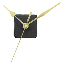 20mm Shaft Length Gold Hands Quartz Wall Clock Silent Movement Mechanism Repair Parts 1
