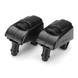 2pcs Front Windshield Washer Nozzle Spray Jet Plastic Black For Skoda Octavia 1