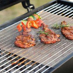 Honana Non Stick Grilling Mats BBQ Mesh Roaster Cooking Tools Black Round Square BBQ Mat BBQ Tools Oven Mats 1
