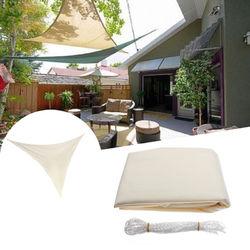 2.4x2.4x2.4M Triangle Sun Shade Sail Canopy Patio Garden Awning UV Block Top Shelter Beige 1