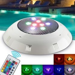 9W RGB Remote Control LED Swimming Pool Light Underwater Waterproof Night Light Atmostphere Light 1