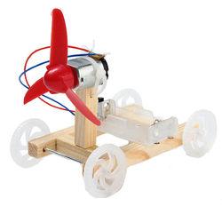 3pcs DIY Technology Invention Single-wing Wind Car Assembly Model DIY Car Kit 1