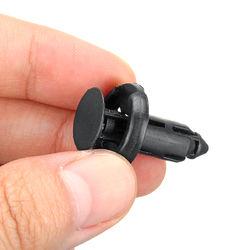 50pcs 8mm Black Plastic Door Trim Moulding Clip Retainer Panel Car Fastener Clip For Toyota 1