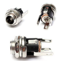 5.5mm X 2.1mm DC Power Supply Metal Jack Audio Socket With Nut And Washer 1