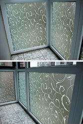 45X100cm Frosted Glass Film Privacy Scroll Flower Window Static Cling 1