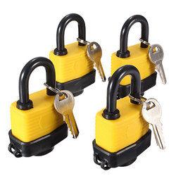 4pcs 40mm Keyed Alike Waterproof Gate Door Padlock with 8 Same Key 1