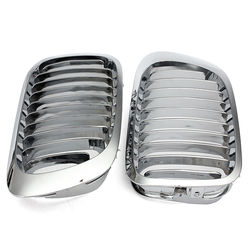 Silver Front Kidney Grille Grills For BMW E46 3 Series 2 Door 99-06 1